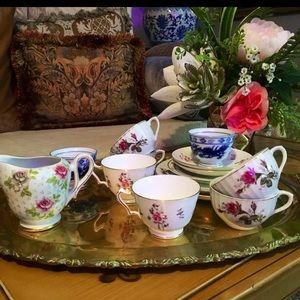 Vintage Marked Porcelain Teacups and Saucer bundle
